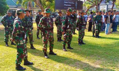 latihan penanggulangan bencana yang digelar oleh pihak Korem 082/CPYJ.