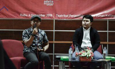 talkshow millenial bertajuk Belajar Jadi Youtuber di ruang Teatrikal Perpustakaan UIN Sunan Kalijaga pada Rabu (4/12) kemarin.