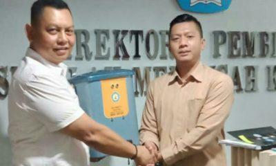 SMK Muhammadiyah 3 Dolopo Madiun Siap Produksi Massal Tempat Sampah Otomatis