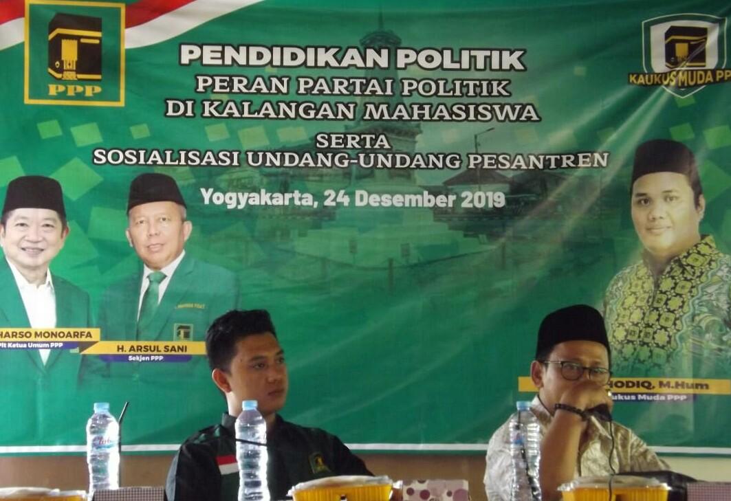 Perjuangkan Kaum Santri, Kaukus Muda PPP Sosialisasi UU Pesantren di Yogyakarta