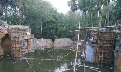 Kondisi jembatan di Desa Pakamban Daya