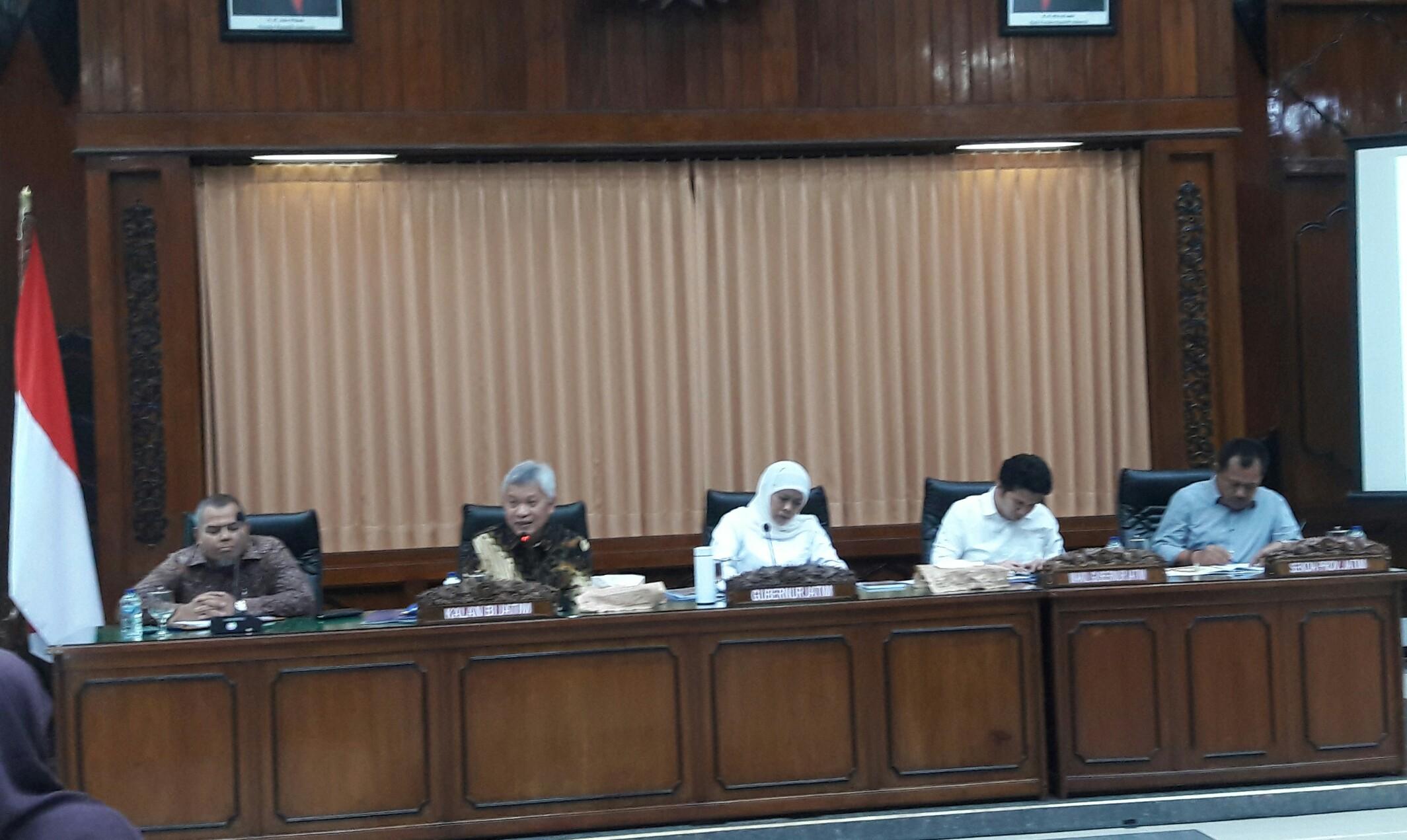 refleksi akhir tahun 2019 Pemprov Jatim di kantor gubernur Jatim, Minggu (29/12/2019).