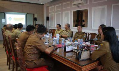 Uji Materi Staf Ahli Kemasyarakatan dengan Bupati Landak, Senin (20/1/2020)