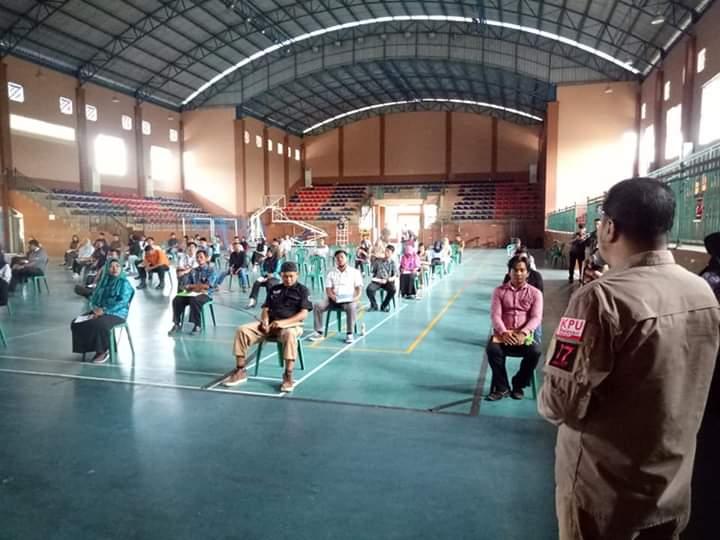 Proses Seleksi Anggota PPK untuk Kecamatan Nunukan dan Nunukan Selatan dalam Tes Tertulis di GOR Dwikora, Nunukan, Kalimantan Utara, Kamis (30/1/2020)