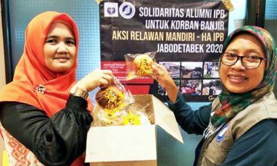 HA IPB Berikan Bantuan 1.900 Paket Untuk Korban Banjir