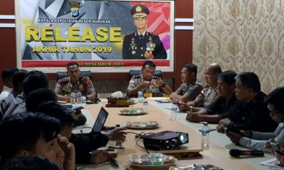 Konferensi Pers Polres Nunukan, Senin 30 Desember 2019