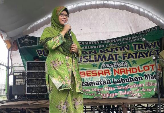 Ketua PC Muslimat Lampung Timur (Lamtim), Binti Amanah Adnan