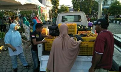 Massyarakat nampak antusias dengan keberadaan Pasar Tani Nunukan, Minggu (19/1/2020)