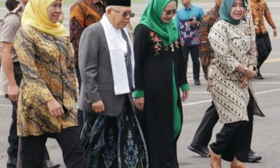 Wapres RI Ma'ruf Amin melakukan kunjungan ke Jatim, Kamis (23/1/2020).