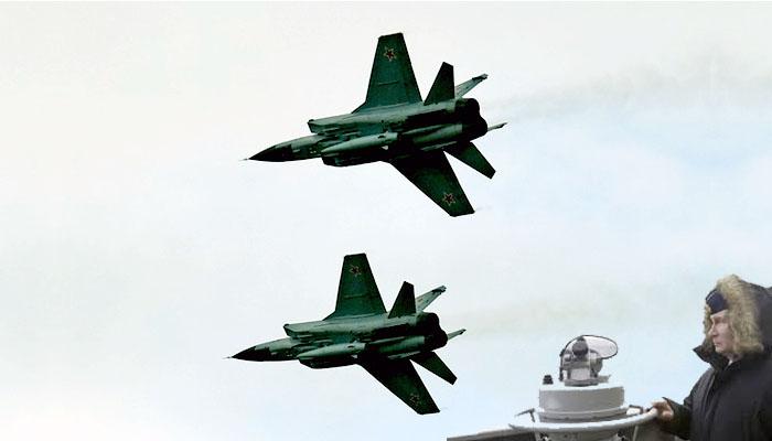 Sepasang Mig 31K Rusia Menembakkan Rudal