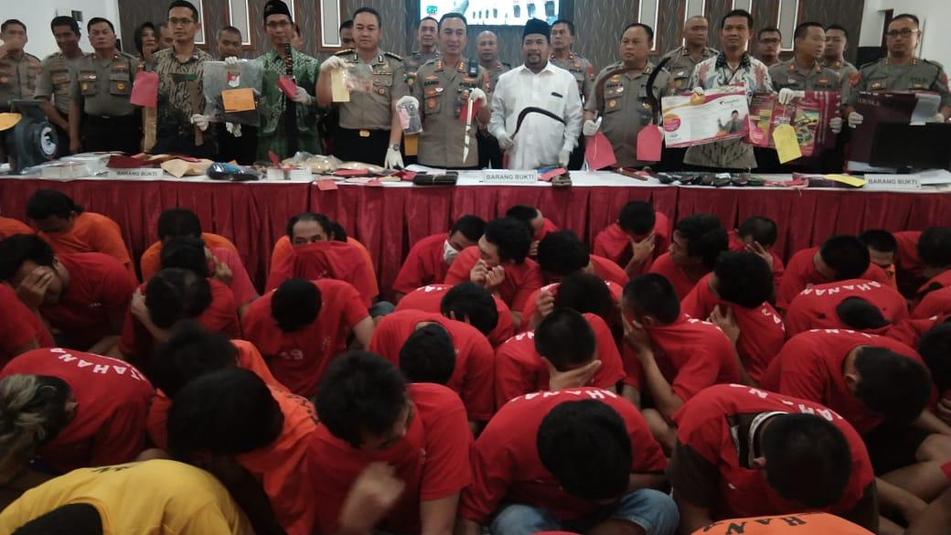 Polrestabes Surabaya Ungkap Kasus Awal Tahun 2020