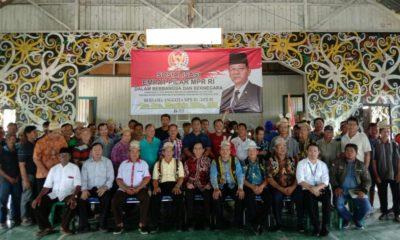 Sosialisasi 4 Pilar Kebangsaan oleh anggota MPR RI, Marthin Billa di Desa Atas Baru , Bulungan , Kaltara