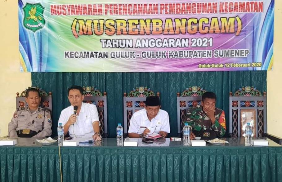 Musrenbangcam di Pendopo Kecamatan Guluk-Guluk. (Foto: nusantaranews.co/ Mahdi)