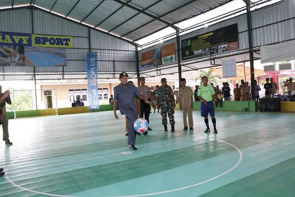 Wabup Sumenep Buka Futsal Cup 2020 dan Pasar Rakyat di BUMDes Cahaya Lestari Desa Rombasan