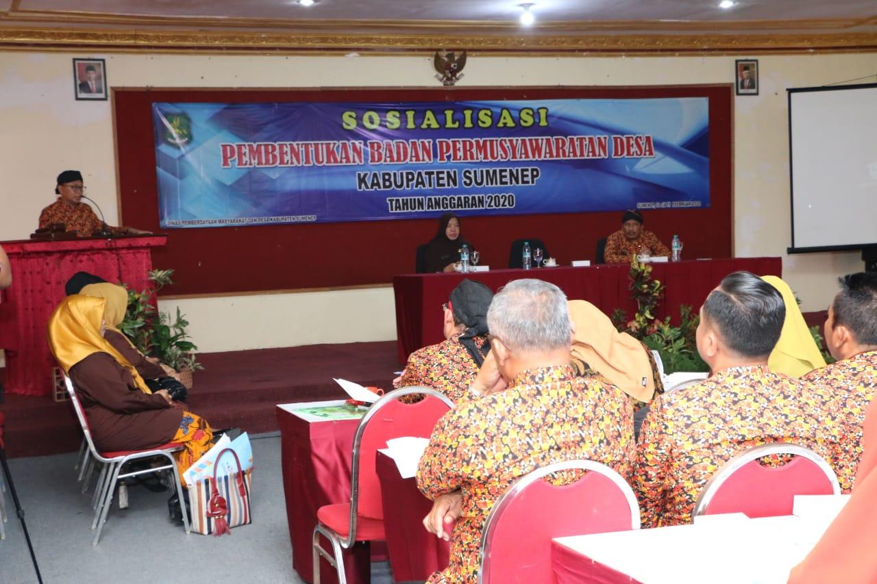 Bupati Sumenep Buka Kegiatan Sosialisasi Pembentukan BPD
