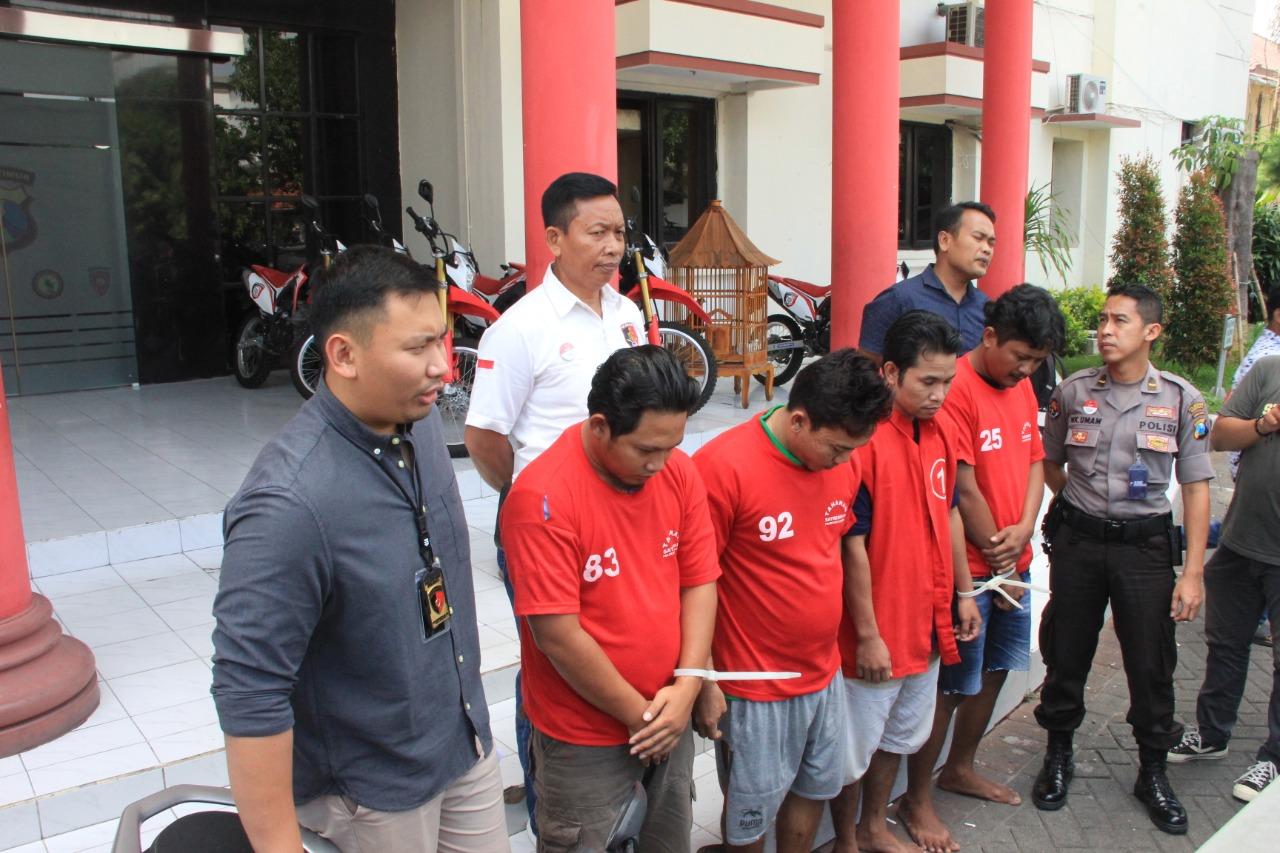 Polrestabes Surabaya Bekuk Komplotan Curanmor