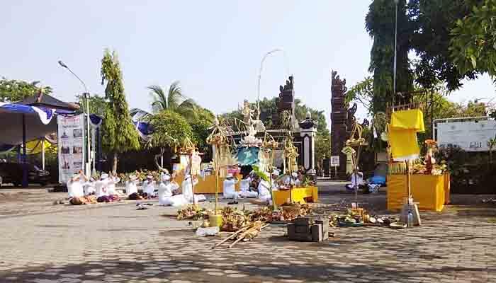 Perayaan Nyepi Dikawal Ketat Aparat Kodim Surabaya Utara