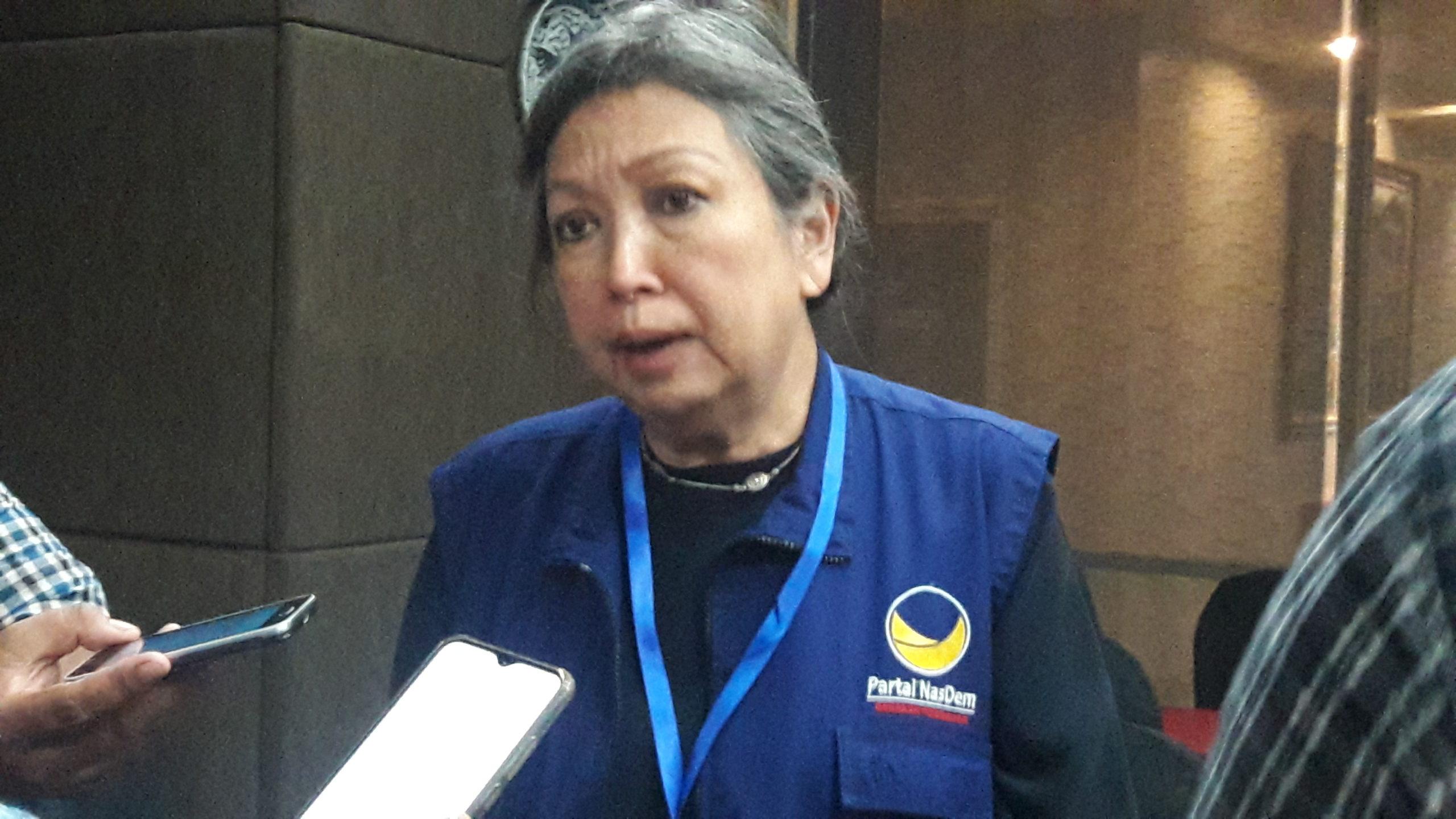 Ketua Dewan Pimpinan Wilayah (DPW) Partai NasDem Provinsi Jawa Timur Sri Sajekti Sudjunadi saat ditemui di Surabaya, Minggu (8/3/2020).