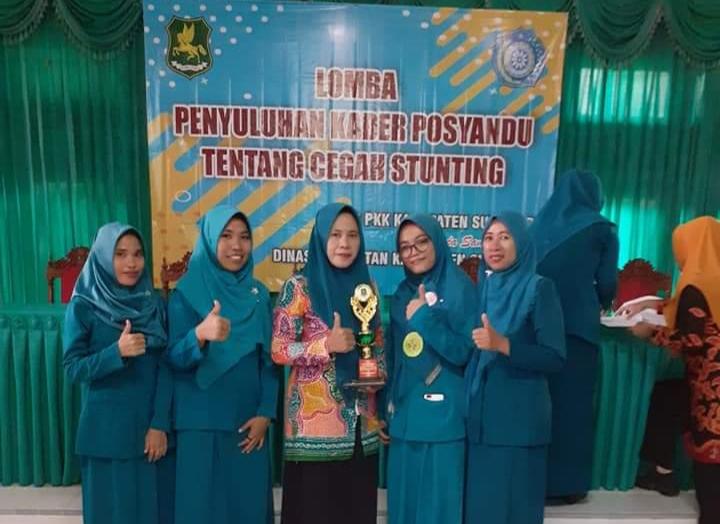 Kader Posyandu Pragaan Daya Juara II Cegah Stunting. (foto : nusantaranews.co /mahdi)
