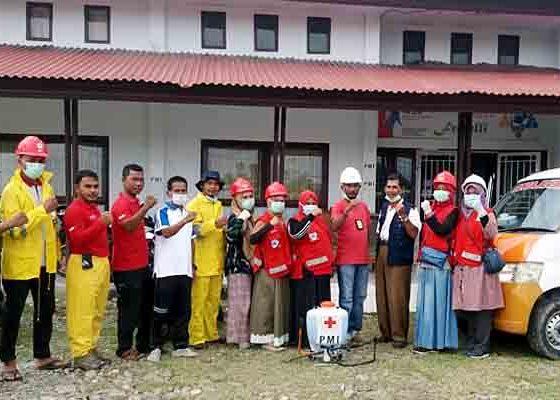 Pengurus dan Relawan PMI bersama PRB Pidie Jaya Sosialisasi Covid-19