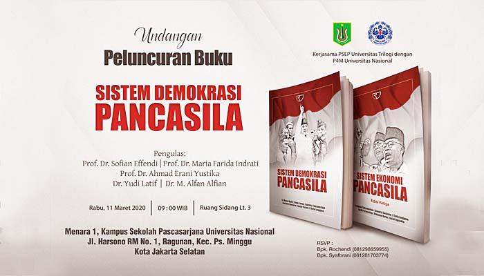 Peluncuran buku Sistem Demokrasi Pancasila