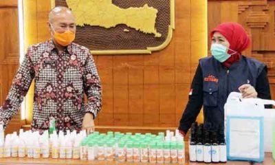 Pemprov Jatim Produksi Massal Hand Sanitizer Libatkan SMA dan SMK