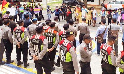 Tuntut Selesaikan Persoalan Sampah, Mahasiswa Demo PT. Garam Sumenep