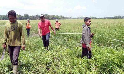 Gampong Alue Buloh Sa Simpang Ulim Bangun Saluran Cegah Banjir