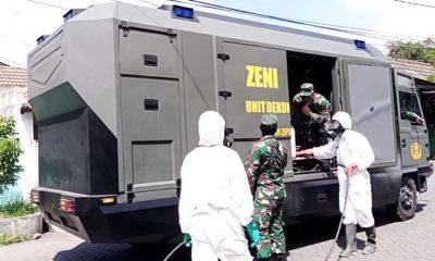 Unit Dekontaminasi Yonzipur 5/ABW sasar 4 lokasi di Sidoarjo