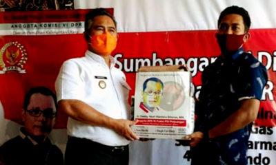 Deddy Sitorus bantu puluhan ribu APD untuk masyarakat Kaltara