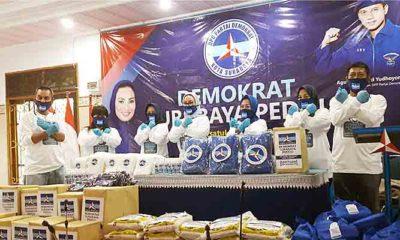 Gelar Baksos, Demokrat Surabaya Prihatin Dampak Sebaran Covid-19