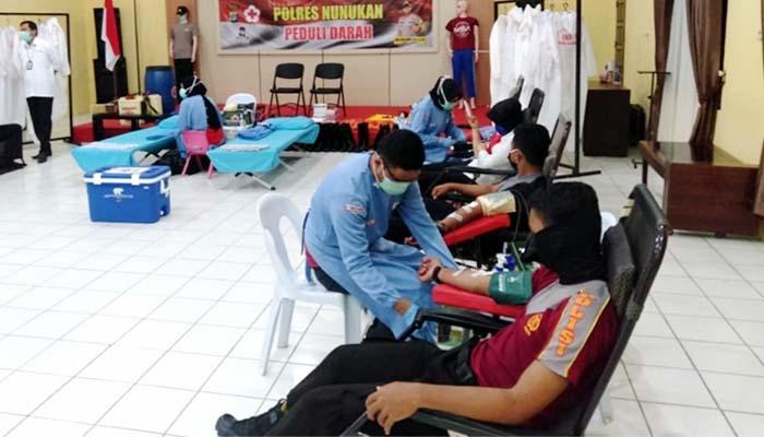 PMI krisis stok darah, Polres Nunukan lansung gelar aksi kepedulian