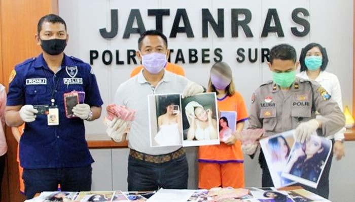 Buru tersangka ke Semarang, Polrestabes Surabaya bongkar prostitusi online