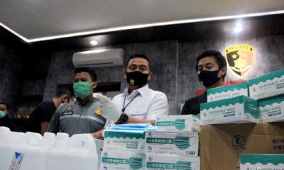 Amankan beberapa tersangka, Polrestabes Surabaya bongkar pabrik hand sanitizer palsu