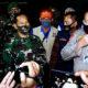 Aparat Kodam Brawijaya dan Polda Jatim sasar kerumunan warga.