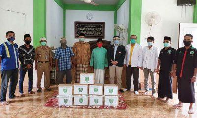 PCNU Nunukan bantu APD berupa ratusan facial untuk tenaga medis.