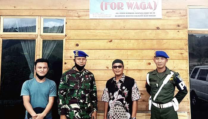 Komandan Sub Denpom IM/1-5 Aceh Tengah sambangi Forwaga.