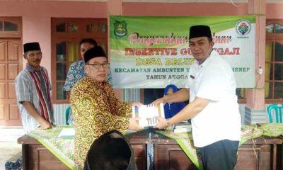Jelang Hari Raya Idul Fitri 1441 H, Kades Beluk Raja berikan insentif untuk guru ngaji.