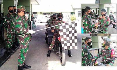 Kodim 0824/Jember luncurkan pasukan sepeda motor, atau bersepeda untuk membagikan bingkisan bagi warganya yang terdampak Covid-19