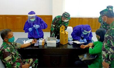 Mendadak perwira berpangkat Kolonel di Kodam V/Brawijaya Rapid Test usai mengikuti acara bakti sosial