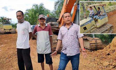 Andre Pratama turunkan alat berat buka jalan tani di Sebatik,