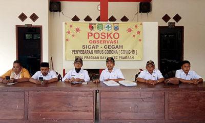 Peduli masyarakat, Pemdes Pragaan Daya Bangun Posko Pananggulangan Covid-19.
