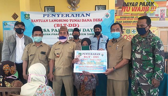 Peduli dampak Covid-19, Pemdes Pekamban Daya Kecamatan Pragaan Kabupaten Sumenep salurkan bantuan langsung tunai