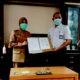 Bupati Nunukan tandantangani serah terima aset dari Kementrian PUPR.