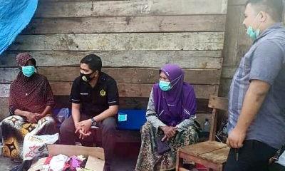 Bripka Jonni bantu korban kebakaran gampong Sarah Mane.