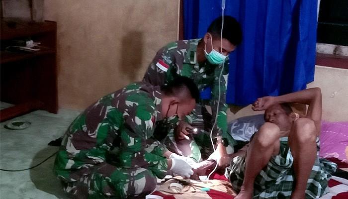 Menengok kegigihan Satgas Yonif 623/BWU dalam melayani warga Nunukan