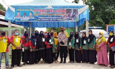 Penilaian Posko Kampung Jago Covid-19 di Desa Seunebok Dalam Mesjid.
