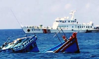 Ganas, Cina kembali tenggelamkan kapal Vietnam di Laut Cina Selatan (LCS).