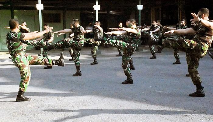 Menjaga kebugaran tubuh, prajurit Kodim 0803/Madiun senam pagi