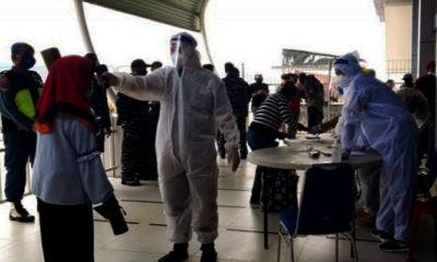 321 PMI asal Malaysia jalani rapid tes di Nunukan.